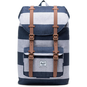 Herschel Little America Mid-Volume Backpack border stripe/saddle brown